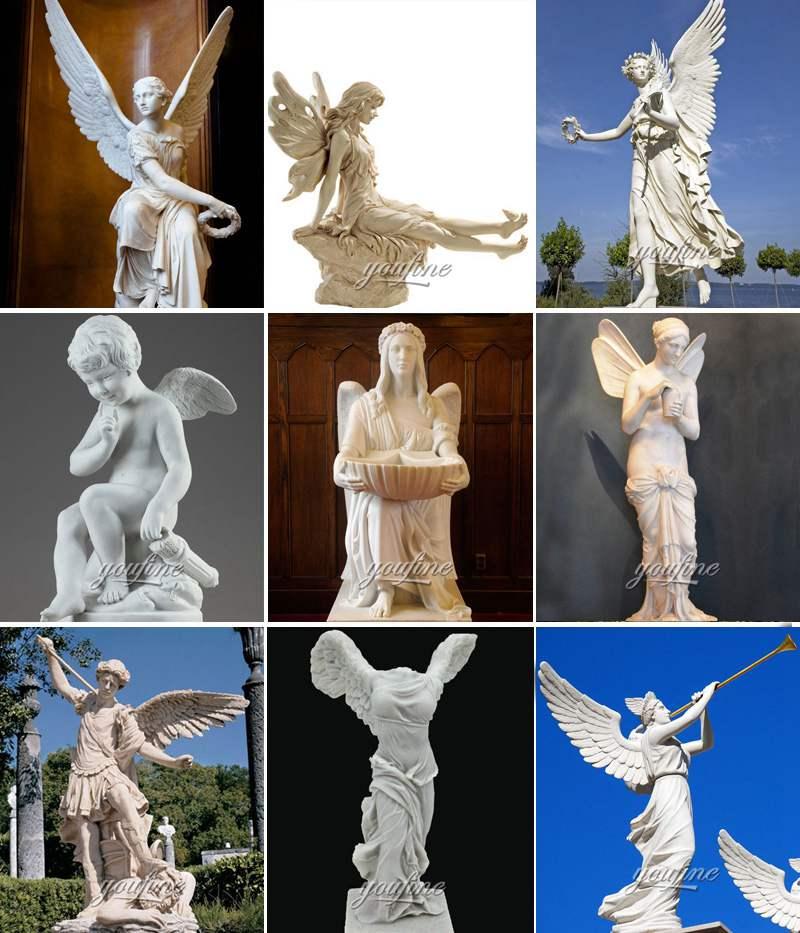 Large Size Marble Angel Statue for Sale MOKK-802