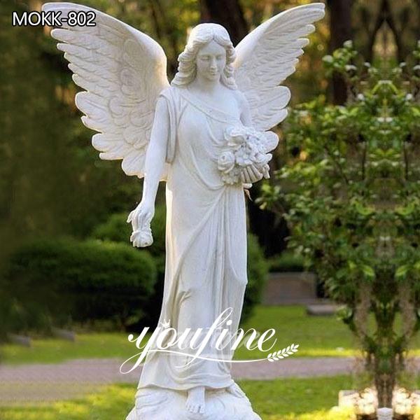 Large Size Marble Flower Angel Statue for Sale MOKK-802