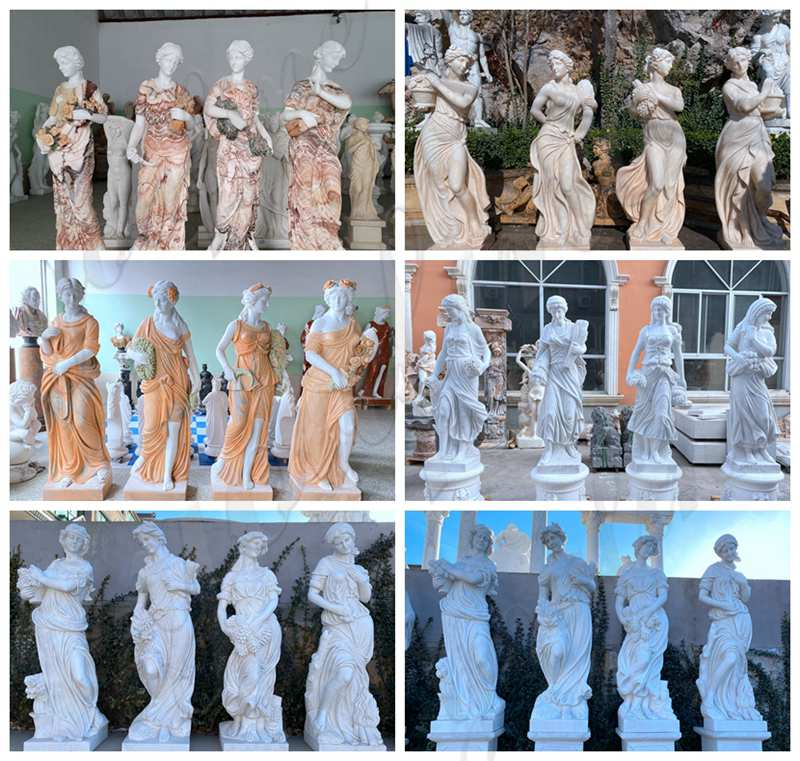 Garden Marble Statues Beige Four Seasons Goddess Sale