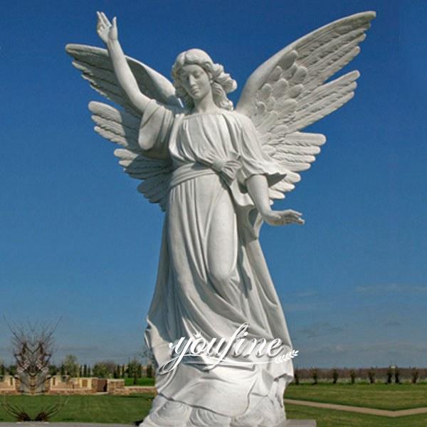 Life Size Marble Angel Statue for Plaza Decoration MOKK-321