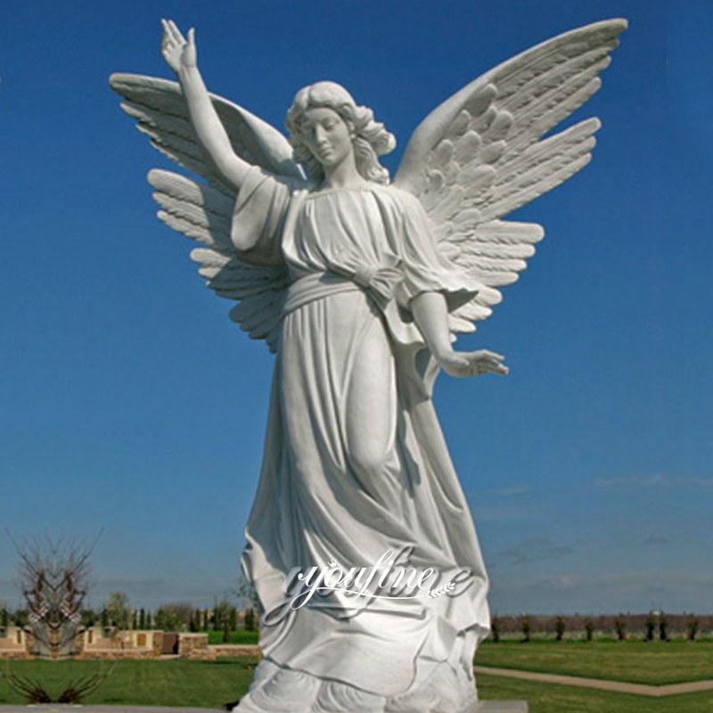 Marble angel sculpture famous cherokee memorial park for decor