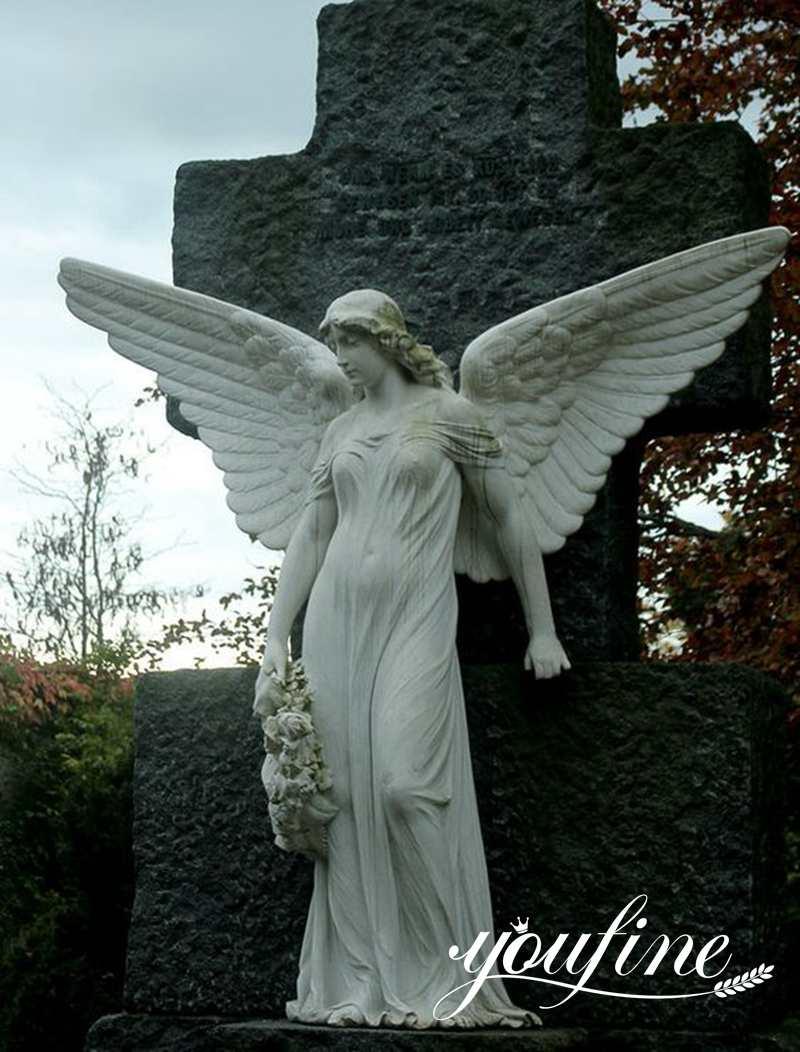 Large Memorial Marble Angel Statue for Sale MOKK-803 (1)