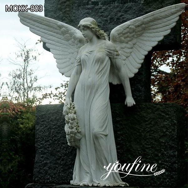 Large Memorial Marble Angel Statue for Sale MOKK-803