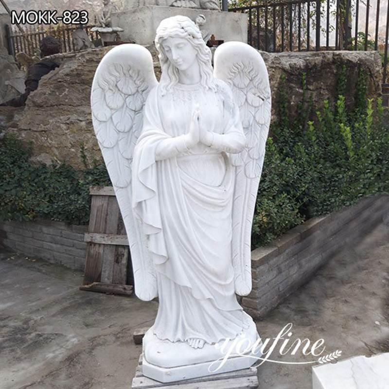 Large Size Marble Pray Angel Statue for Sale MOKK-823