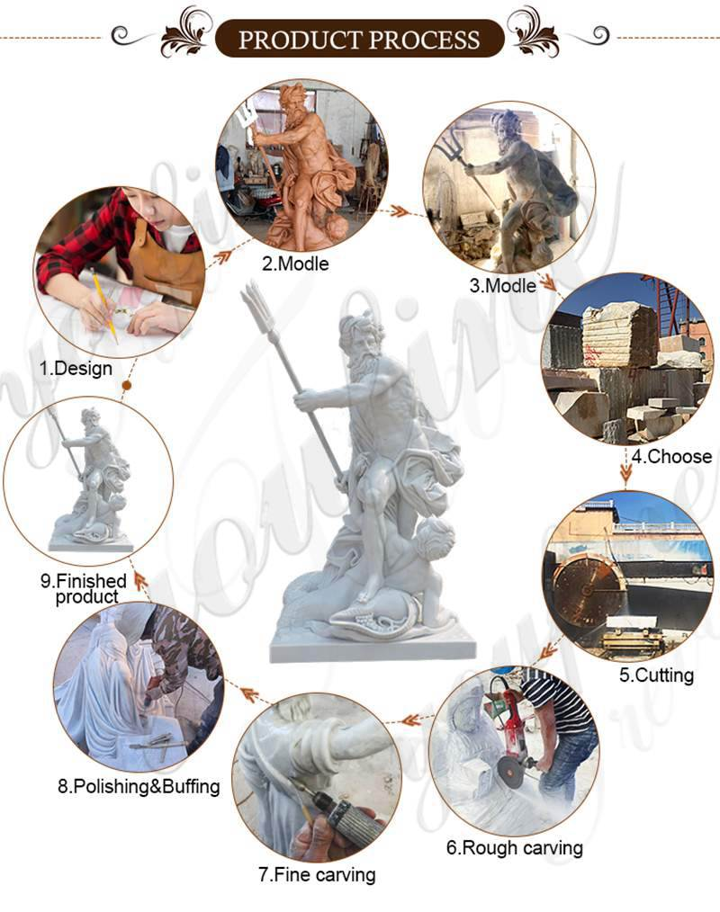Life Size Marble Garden Statue Apollo and Daphne for Sale MOKK-318 (2)