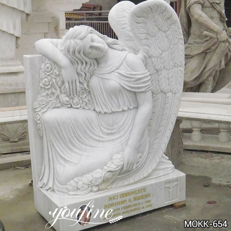 White Marble Angel Tombstone China Supplier