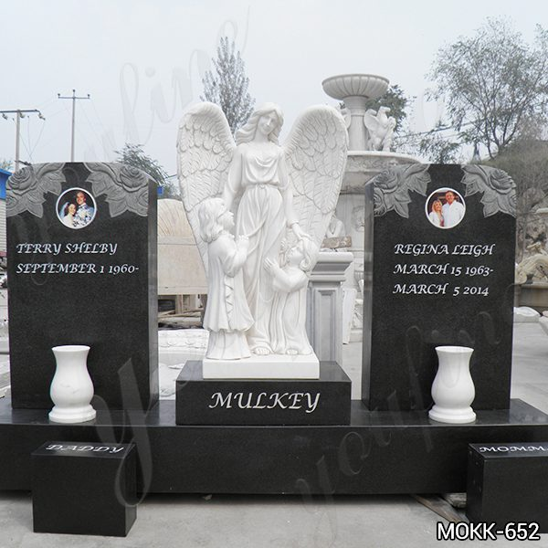 Angel Mother and children Sculpture Headstone for Sale Mokk-652 (4)
