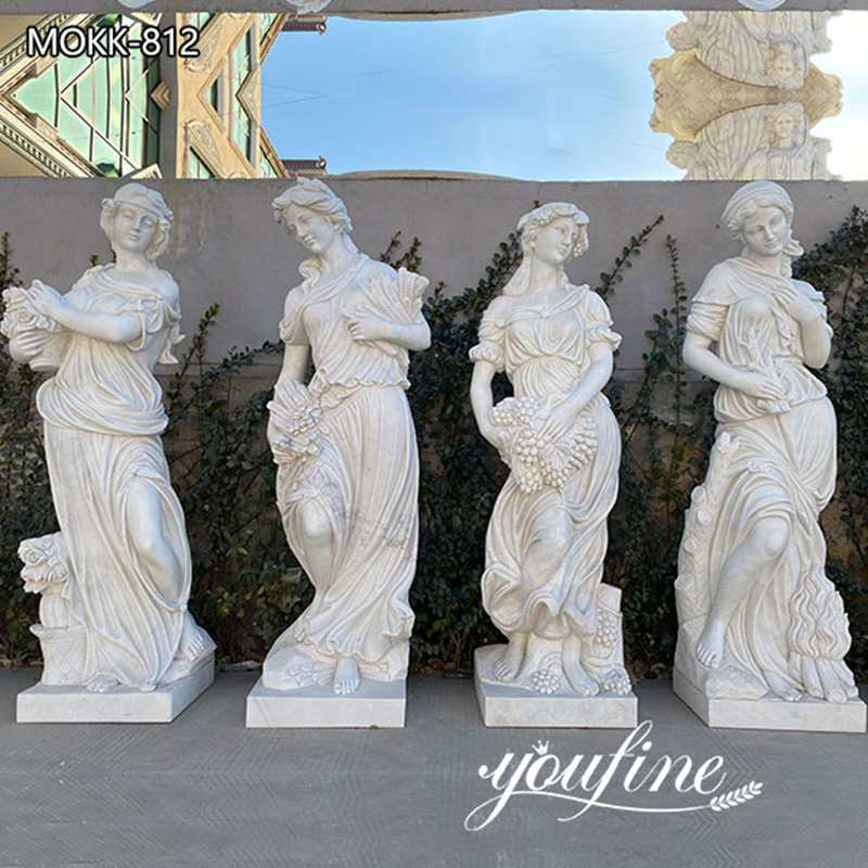 Outdoor Marble Four Seasons Statues Garden Square Decor for Sale MOKK-812